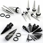 Stainless Steel Rivet Spike Taper Ear Plugs Tunnel Expander Stretcher 2-10mm