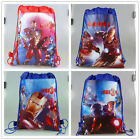 Lot Popular Cartoon Iron man Environmental protection Bags Draw string backpack