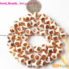 """Fashion 8mm Round Faceted Fire Agate Jewelry Making Gemstone Beads 15"""""""