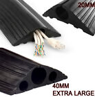 Black Heavy Duty Rubber Cable Tidy Floor Protector Trunking Cover for Pedestrian