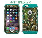 """For 4.7"""" iPhone 6/iPhone 6s Camo Mossy Oak Hybrid Rugged Impact Armor Case Cover"""