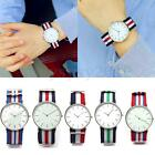 Hot Women Men's Casual Fabric Nylon Canvas Band Military Dial Quartz Wrist Watch