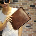 Vintage Men's Faux Leather Carrying Shoulder Bag Envelope Cover Case Bag Handbag