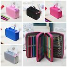 3/4 Layers Large Capacity Pencil Case Travel Cosmetic Brush Makeup Storage Bag
