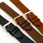 Comfortable Flexible Leather Watch Strap Band Buffalo grain 16mm - 22mm