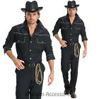 CL646 Cowboy Western Wild West Shirt Hat Sheriff Fancy Dress Rodeo Mens Costume