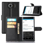 Litchi Leather Wallet Flip Card Stand Cover Case For Blackberry Priv 4G Venice