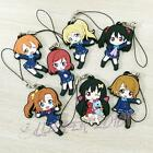 Love Live Rubber Keychain Strap Phone Charm 1 pcs Unisex Key Bag Pendant Toy New