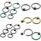 Ball Closure Ring Captive Bead BCR 16Ga Nose Ear Helix Tragus Lip Piercing 1PC