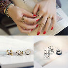 Women Charm Accessories Jewelry New Punk Cuff Finger Ring Set Jewelry Gift USTB
