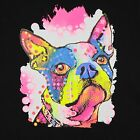 Kids Boston Terrier Dog T-Shirt Unisex Children to Adult Cute Youth boys Neon