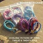 E / FRIENDSHIP BRACELET KIT FAUX SUEDE THONG CORD CRYSTAL BEADS JEWELLERY MAKING