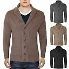 NEW MENS CLASSIC BUTTON UP FRONT VINTAGE SHAWL NECK CARDIGAN KNIT CARDI SWEATER