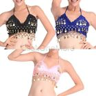 Lady Girl Dancewear Gold Coins Sexy Hot Top Bra Belly Dancing Costume 3 Colors