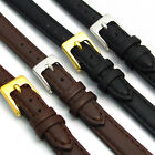6mm Ladies Soft Leather Watch Strap Black or Brown