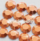 Copper Iron On Faceted Hot Fix Rhinestuds Flatback Shine Gems 2mm 3mm 4mm 5mm