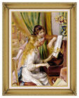 Two Girls at the Piano by Pierre Auguste Renoir Painting Repro Framed Art Print