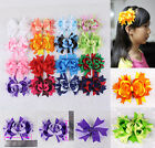 """2016 new 6/9/12/16pc 3"""" Baby Contrast color Girl Grosgrain Hair bow clips 2787 Y"""
