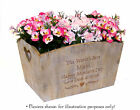 Personalised Large Wooden Crate Engraved With a Special Message For Mother's Day