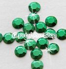 Green Iron On Faceted Hot Fix Rhinestuds Flatback tool Gems Bead 2mm 3mm 4mm 5mm