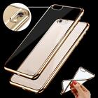 Clear Crystal Rubber Plating TPU Soft Case Cover Skin For iPhone 6 & 6 Plus Case