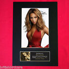 BEYONCE No1 Signed Autograph Mounted Photo REPRODUCTION PRINT A4 234