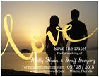 30 50 100 UR Photo Golden LOVE Save the DATE MAGNETS & Env CUSTOM