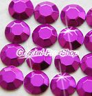 Purple Iron On Faceted Hot Fix Rhinestuds Shine Flatback Gems 2mm 3mm 4mm 5mm