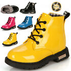 Cute Hot Baby Kids Girls Boys Toddler Martin Waterproof Boots Shoes Cotton Plus