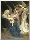 Stretched Christian Art Song of the Angels Virgin Mary William Bouguereau Repro