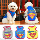 Pet Dog Christmas Clothes SUPERMAN Puppy Shirt Vest Jacket Coat Costume Apparel