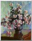 Vase of Chrysanthemums by Claude Monet Painting Reproduction Stretched Art Print