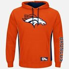 Denver Broncos Pullover Hoodie Passing Game Orange Plus Sizes Double Logos NFL on eBay