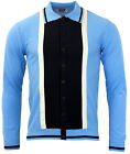 NEW! MADCAP RETRO MOD 60s SUEDE MARRIOTT CARDIGAN POLO SHIRT BLUE MC200 G11A/B/C