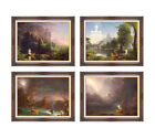 Set of 4 Thomas Cole Voyage of Life 1842 Framed Christian Art Print Canvas Repro