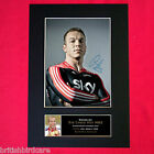 CHRIS HOY Mounted Signed Photo Reproduction Autograph Print A4 268