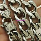 """16""""-40"""" 15mm Silver/Gold Tone Stainless Steel Men's 1:1 NK Chain Necklace New"""