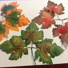 "Millinery Flower 4"" Leaf 3pc Fall Shades for Hat Bride + Hair Choose Color KZ14"
