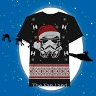 New Star Wars Holiday Ugly Christmas Sweater Storm Trooper T-Shirt $24.11 CAD