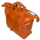 Floto Tack Italian Duffle Bag, Leather Travel Tote Case Carry-on