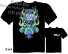 Kustom Racing Skull T-shirt, Tattoo Tee Shirt, Chopper Tee Sz M L XL 2XL 3XL