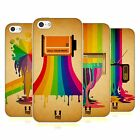 HEAD CASE DESIGNS COLOUR DRIPS SOFT GEL CASE FOR APPLE iPHONE 5C
