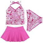Kids Girls Bathing Suit Bikini Tankini Floral Swimwear Swimsuit Summer Clothes