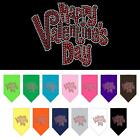 Happy Valentines Day Rhinestone Dog Bandana Valentines Day Dog Collar BLING