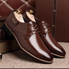 New Black Men's Formal Shoes Lace Up Leather Lined Patent Dress Wedding Shoes