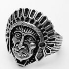 Men's Vintage Stainless Steel Black Silver Mens Ring Jewelry Size 8 9 10 11 H