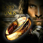1PC Stainless Steel Lord Rings The One Ring Bilbo's Hobbit Gold Ring 17-22mm