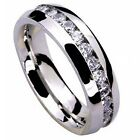 8mm Stainless Steel Men\'s Ring Band Eternity Wedding Jewelry Silver Size 9-13