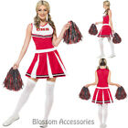 CL722 Cheerleader Dress High School Musical Fancy Dress Costume Glee + Poms Poms