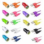 6FT Micro USB Cable+2-Port USB 2A Mini DC Car Charger Adapter For Cellphone